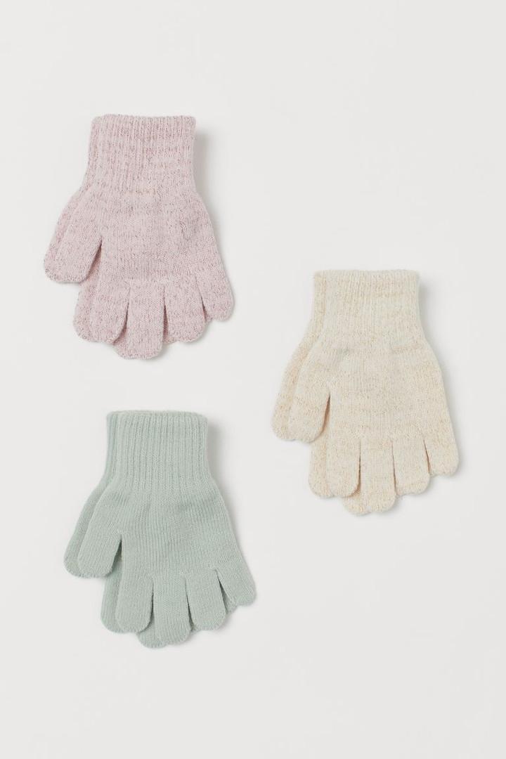 Детские вязанные перчатки НМ для девочки (поштучно)