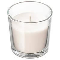 Свеча ароматическая в стакане декоративная ваниль IKEA SINNILIG 7,5 см х 25 часов горения СІНЛІГ ИКЕА