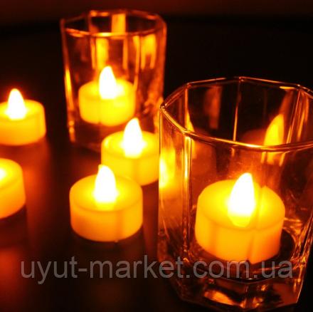 Светодиодная свеча чайная 10шт, 39х37мм - фото 2