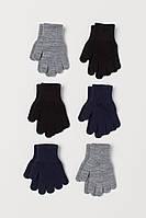 Детские вязанные перчатки НМ для мальчика (поштучно)