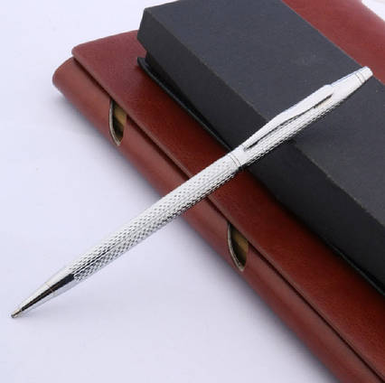 Ручка кулькова металева Хвилястий візерунок Baikingift Сині 0,5 мм
