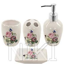 """Набор для ванной """"Rose"""" 4 пр / наб 25 * 21см R22344"""