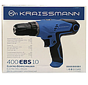 Шуруповерт мережевий Kraissmann 400 EBS 10, фото 2