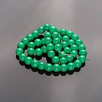 Бусины на нитке 8мм стекло в глазури кислотный зеленый