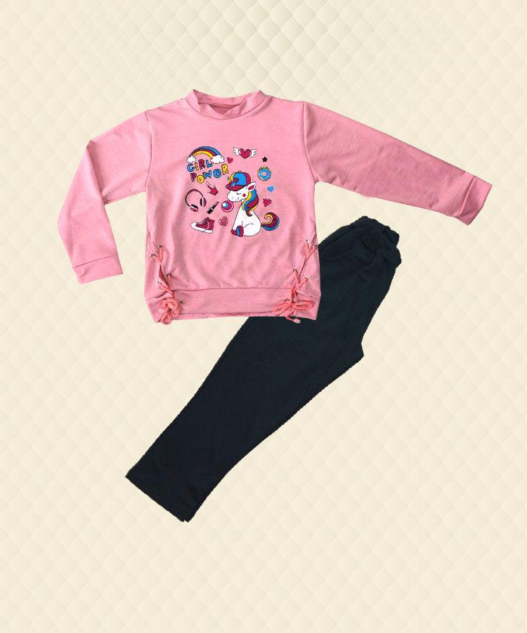 Костюм для девочки розовый накат двухнитка