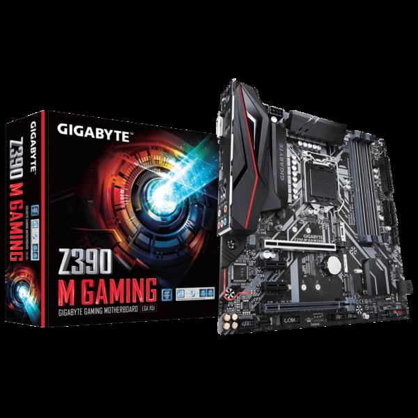 Мат.плата s1151 Z390 Gigabyte Z390M Gaming (mATX 4xDDR4 4266 HDMI 2xM.2 RGB) (Z390M GAMING)