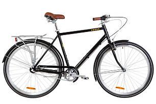 """Велосипед уцінений 28"""" Dorozhnik AMBER 14G планет. Al з багажником зад AI, з крилом St 2019 (чорно-жовтий)"""
