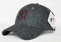 Качественная недорогая бейсболка N Y. Теплая кепка. Бейсболка из шерсти. Оригинальное качество. Код: КШТ9