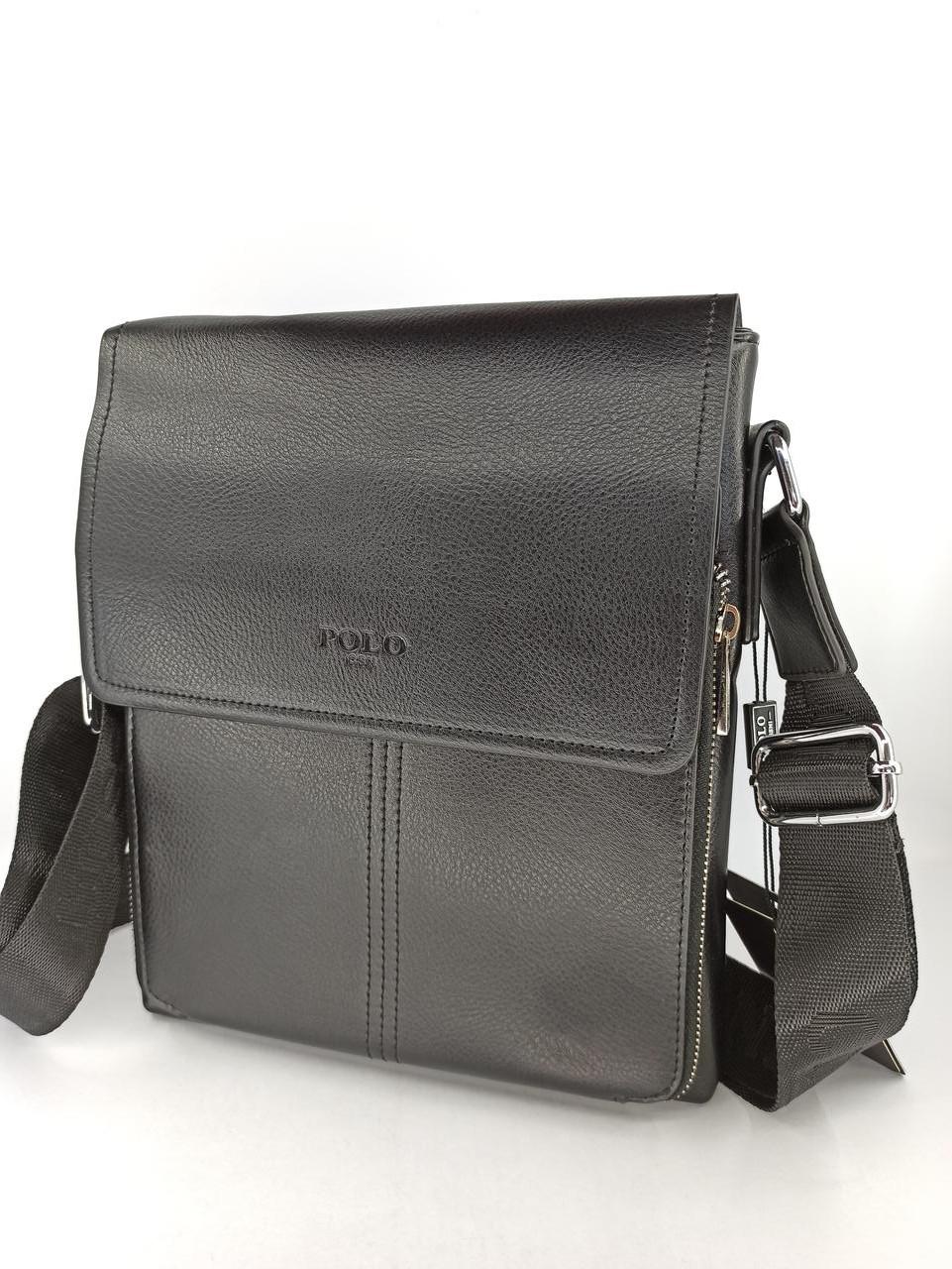 Мужская кожаная сумка планшет через плечо Polo 88857-3
