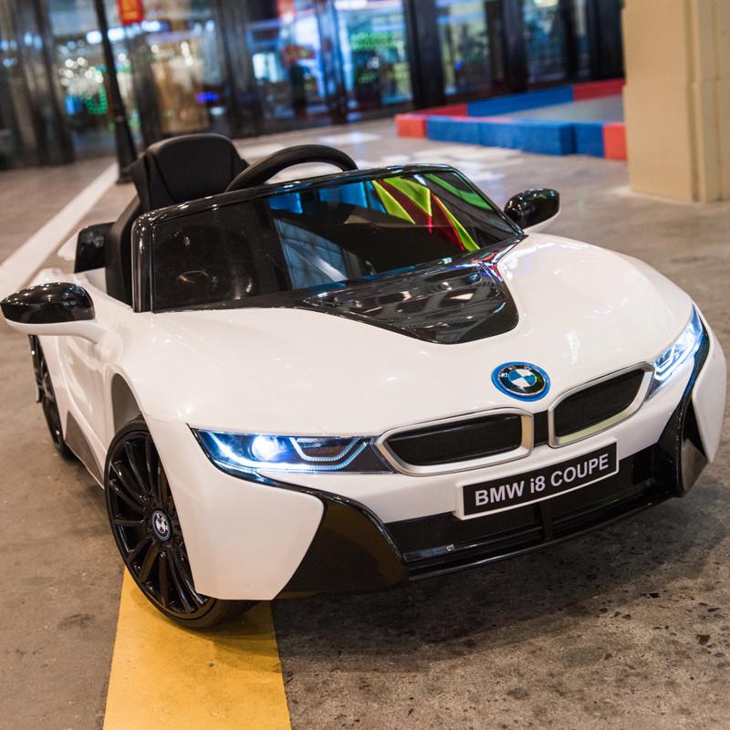 Дитячий електромобіль JE 1001 EBLR-1, BMW i8 Coupe, колеса EVA, шкіряне сидіння, білий