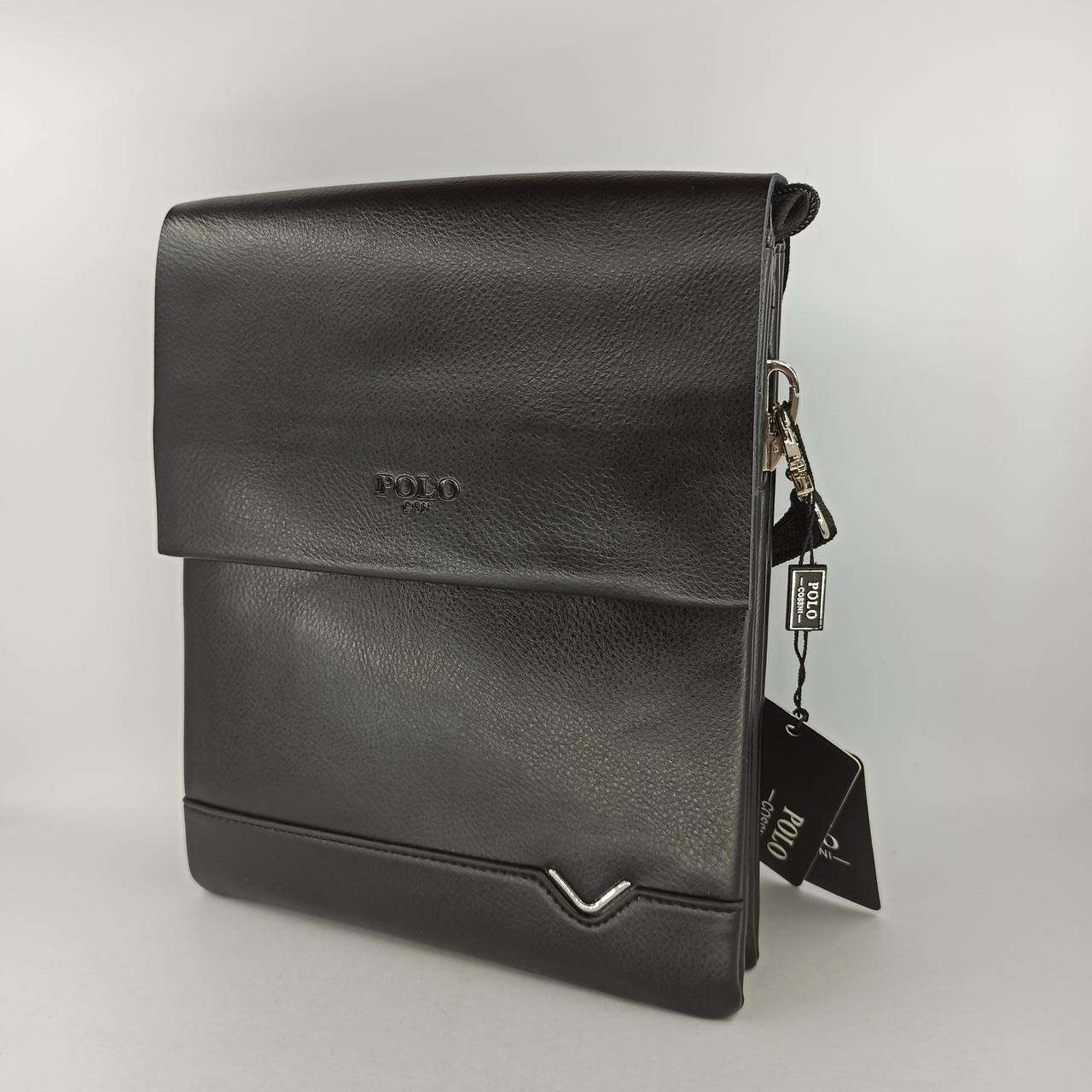 Мужская кожаная сумка планшет через плечо Polo В311-3