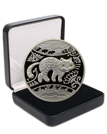 """Срібна монета НБУ """"Рік Кота (Кролика, Зайця)"""""""