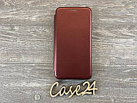 Чехол книжка Elegant book для Samsung Galaxy J3 бургунди (бордовый), фото 1