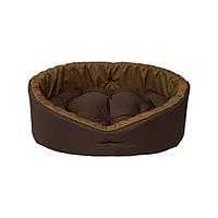 Лежак для котов и собак коричневый/койот