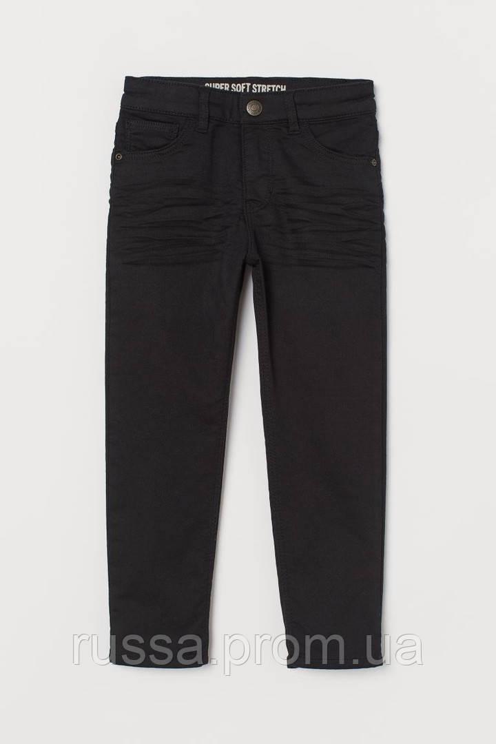Твиловые стрейчевые штанишки черного цвета для мальчика