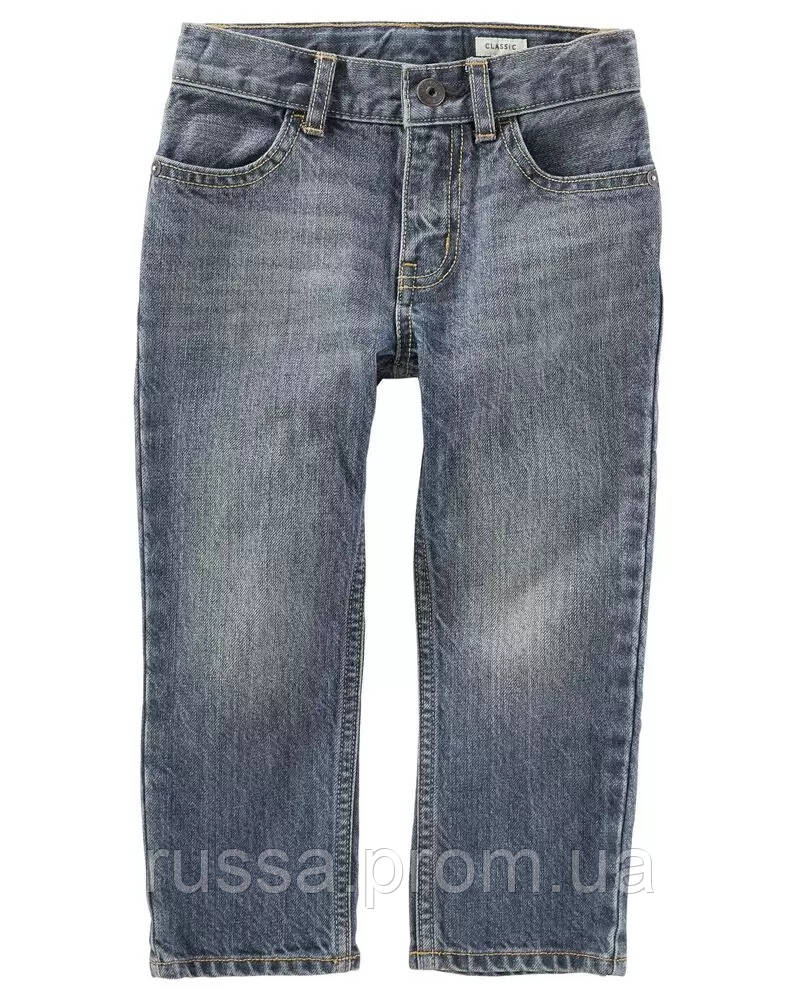 Универсальные детские джинсы с потертостями для мальчика ОшКош