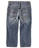 Универсальные детские джинсы с потертостями для мальчика ОшКош, фото 2