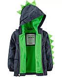 Детская демисезонная курточка на флисовой подкладке Дино Картерс для мальчика, фото 2