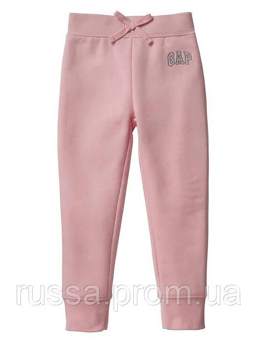 Стильные детские штанишки на флисовом начесе GAP для девочки