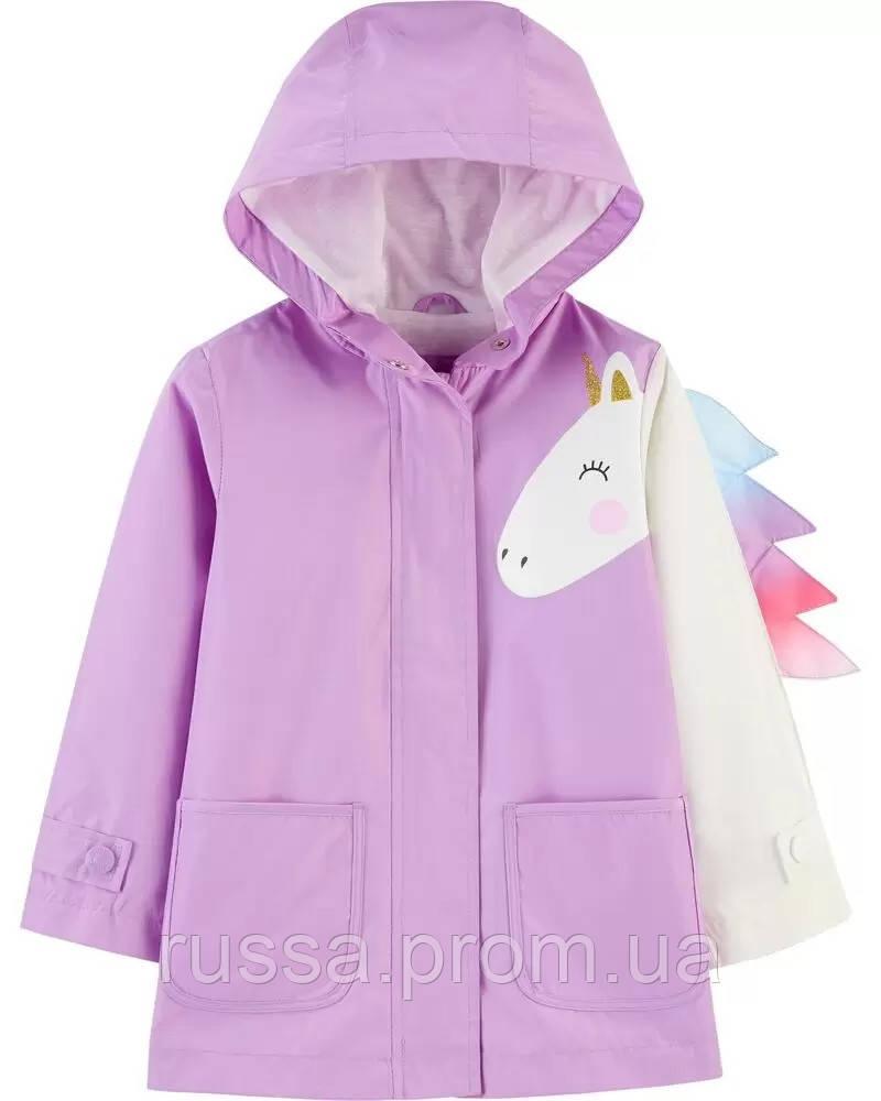 Симпатичный детский дождевик Единорожек для девочки Картерс