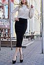 Шифоновая блузка бежевая женская прозрачная, фото 3