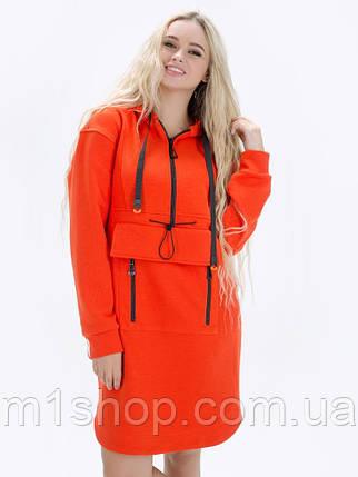 Женское спортивное платье с капюшоном из футера (Мэрая lzn), фото 2