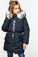 Зимняя детская куртка парка для девочек Китнис ТМ Nui Very Размеры 110- 158