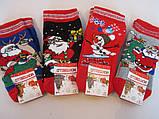 Детские махровые носки с новогодним принтом., фото 2