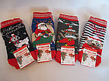 Детские махровые носки с новогодним принтом., фото 3
