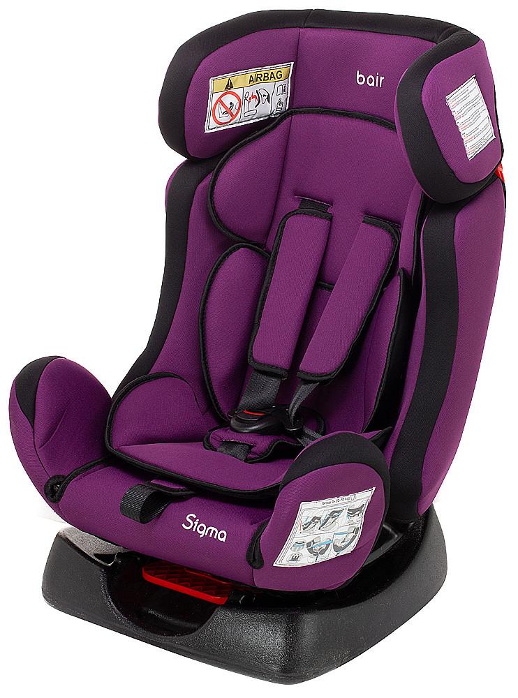 Автокрісло Bair Sigma 0+/1/2 (0-25 кг) DS1824 чорний - фіолетовий