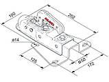 Сцепное устройство V75-AK7 750 кг, под V-образное дышло (202602, фото 2