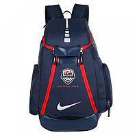 Рюкзак спортивный, городской, повседневный Найк Elite USA Blue
