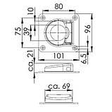 Петля такелажная ZBF 70 тип 1 96х101 мм (1860061) (ssk2018), фото 2