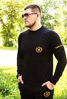 Свитшот мужской черный Miracle Gold universal black фирменная вышивка золотого цвета, премиум класса