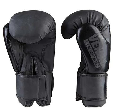 Боксерские перчатки  PU VENUM VM2955 (реплика, черние) размер 10 унц.