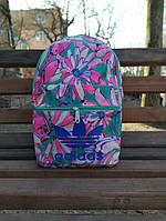 Рюкзак спортивный, городской, повседневный женский Original Flower Mint