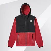 Флисовая куртка ветровка штормовка мужская осенняя весенняя Норс Фейс черно-красная