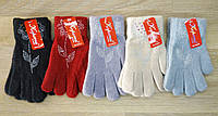 """Перчатки подростковые """"Корона"""". Цветок из страз. Размер """"М"""" (10-12 лет). №0263., фото 1"""