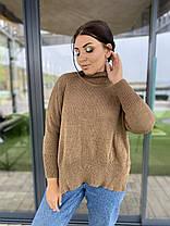 Теплый стильный свитер универсального размера, фото 3