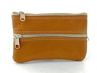 Шкіряний жіночий гаманець в коричневому кольорі