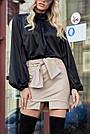 Красива чорна блузка з шовку жіноча, фото 3