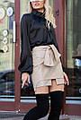 Красива чорна блузка з шовку жіноча, фото 4