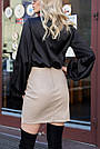 Красива чорна блузка з шовку жіноча, фото 5