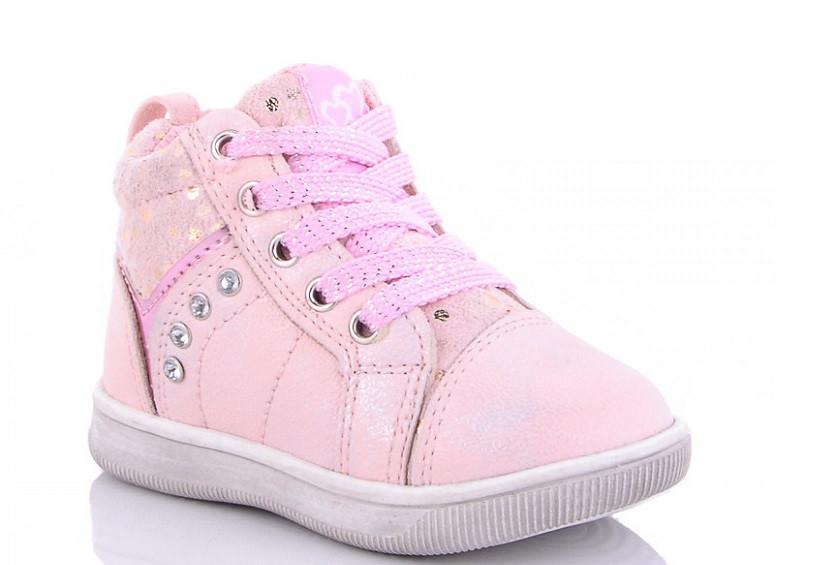 Ботинки детские розовые Солнце-Kimbo-o-JL93-1P-(раз.с 22 по 27)