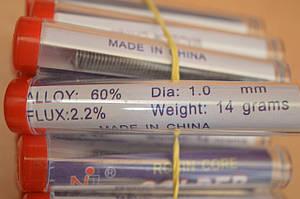 Припой  D 1 мм, 14 г, в пластмассовой тубе