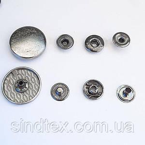 Кнопка ТАБЛЕТКА - 22мм Блэк никель 720шт. Нержавейка (ИР-0125)