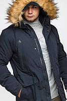 Куртка зимняя молодежная Braggart Youth, для парня 13-25 лет, темно-синяя