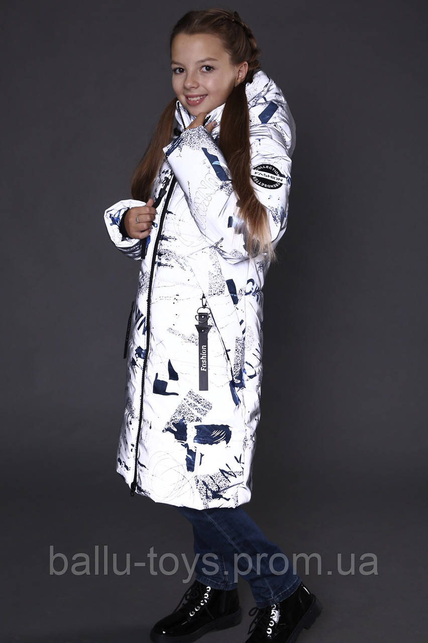 Теплая курточка на девочку на термоподкладке Оливия (7-14 лет)