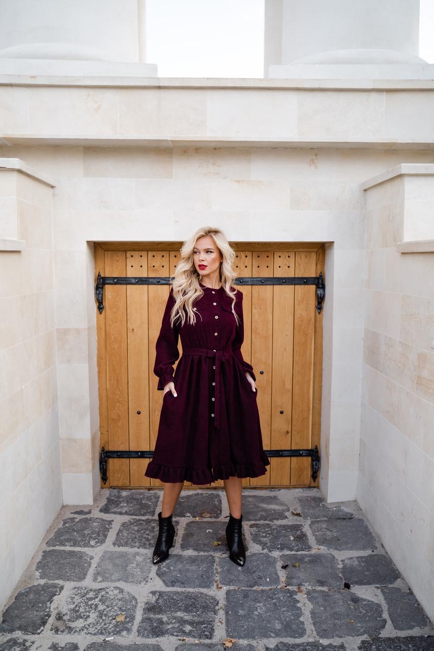 Чудесное вельветовое платье