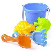 Ведро игрушка грабельки для песочницы IE624